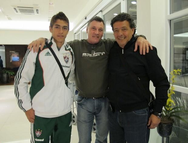 manuel lanzini com o pai fluminense (Foto: Fernando Torres / Fluminense F.C.)