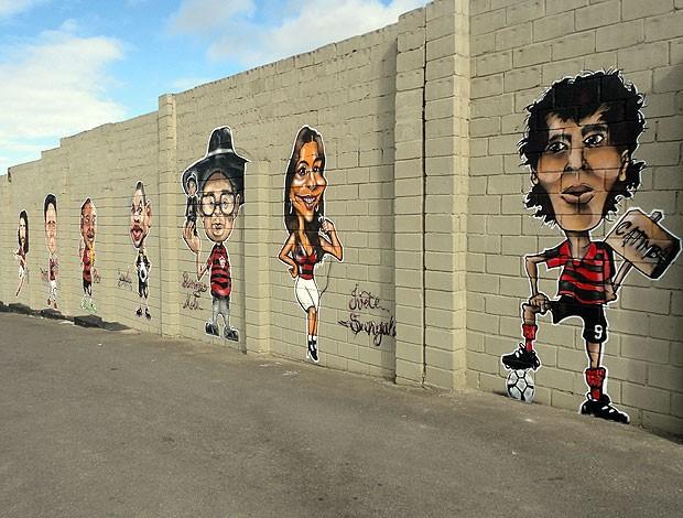 grafite do muro do barradão geral (Foto: Raphael Carneiro/Globoesporte.com)