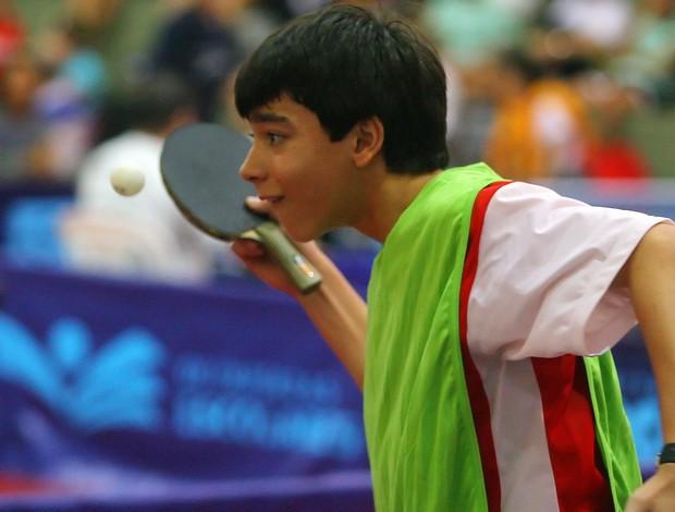 Hugo Calderano atleta tênis de mesa Olimpíadas Escolares  (Foto: Divulgação)