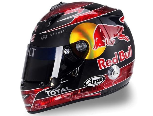 Sebastian Vettel capacete GP da Itália Monza RBR (Foto: Divulgação)