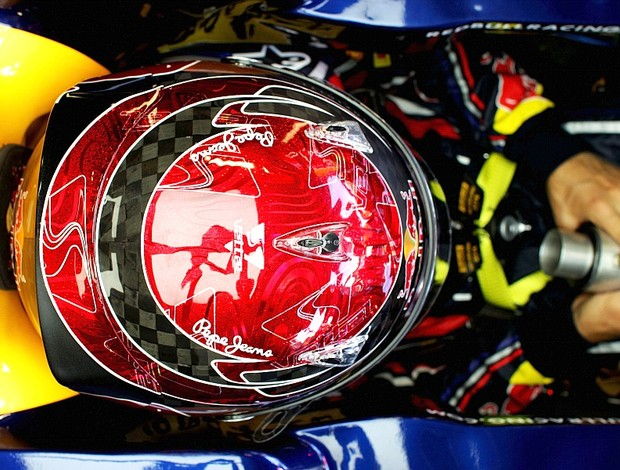 Sebastian Vettel capacete GP da Itália Monza RBR (Foto: Getty Images)