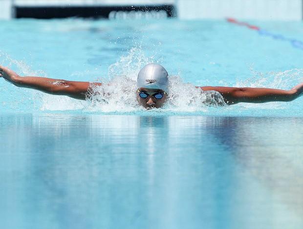 Atleta Gustavo Borges durante prova das Olimpíadas Escolares (Foto: Wagner Carmo / COB)