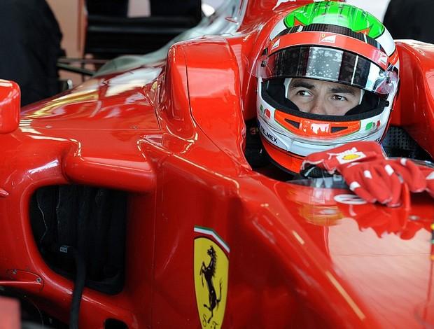 Sergio Pérez teste Ferrari Fiorano (Foto: Divulgação)