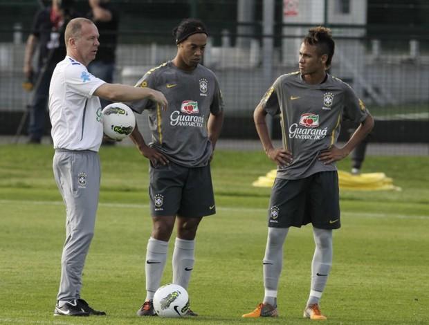 Mano Ronaldinho Neymar durante treino da Seleção Brasileira (Foto: Mowa Press)