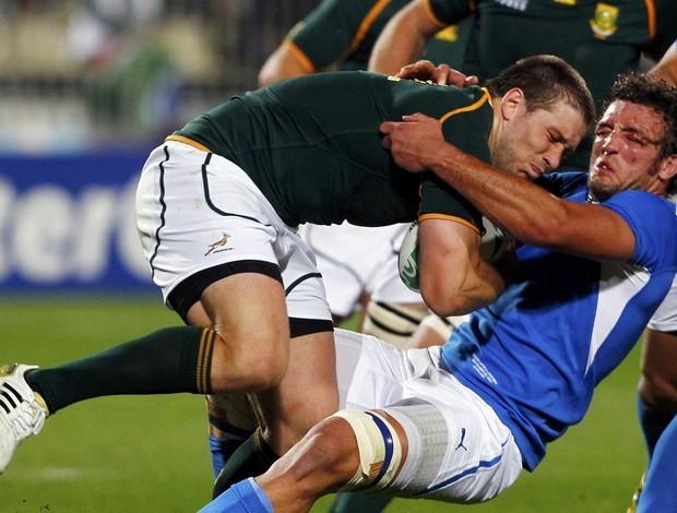 África do Sul x Namíbia, Mundial de Rúgbi (Foto: Reuters)