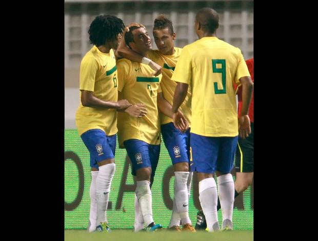 lucas gol  brasil x argentina (Foto: Reuters)