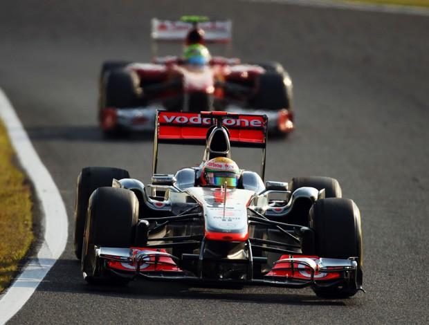 Lewis Hamilton e Felipe Massa no GP do Japão (Foto: Getty Images)