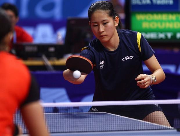 Caroline Kumahara tênis de mesa pan guadalajara (Foto: Luiz Pires / Vipcomm)