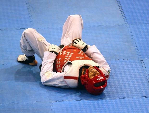 . Márcio Wenceslau semifinal taekwondo Jogos Pan-Americanos (Foto: Luiz Pires/VIPCOMM)