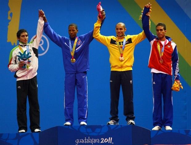 pódio taekwondo até 58 kg Jogos Pan-Americanos (Foto: Luiz Pires/VIPCOMM)