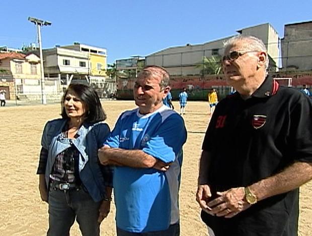 Zezé, Nando e Tunico, irmãos de Zico Esporte Espetacular (Foto: Reprodução/TV Globo)