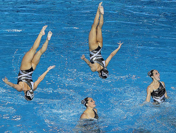 nado sincronizado do Brasil, nos Jogos Pan-Americanos 2011 em Guadalajara, México (Foto: Satiro Sodré/Agif)