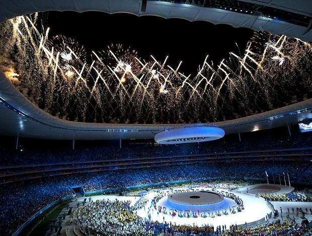 Cerimônia de encerramento do Pan (Foto: AFP)