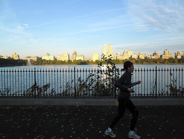 Corrida de rua maratona nova york Central Park (Foto: Luisa Prochnik / Globoesporte.com)