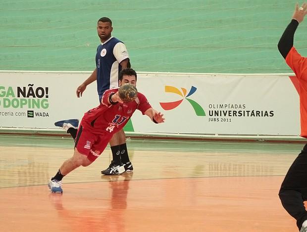 Handebol masculino Unopar x UCB-RJ Olimpíadas Universitárias (Foto: Gilvan Moreira/COB)