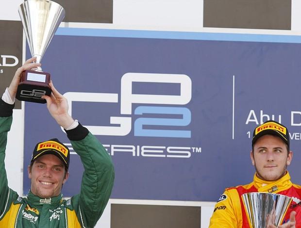 Fabio Leimer Luiz Razia GP2 pódio Abu Dhabi (Foto: Divulgação/GP2)