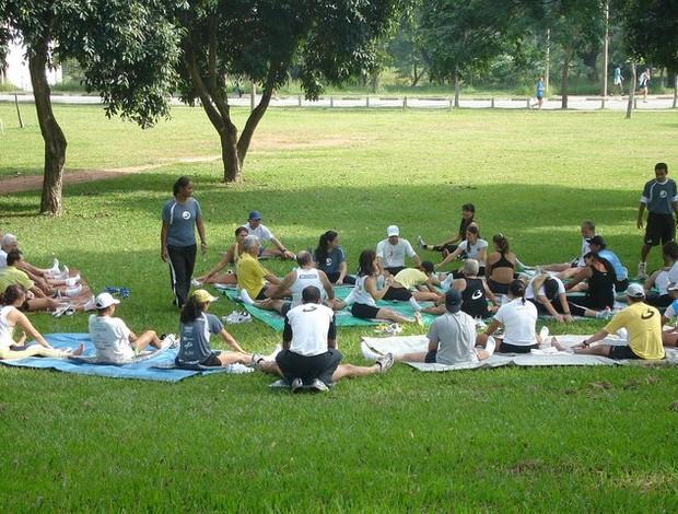 Um dos treinamentos semanais  (Foto: Arquivo pesoal)