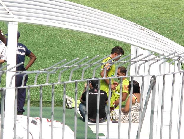 Bernardo deixa o treino do Vasco (Foto: Rafael Cavalieri / GLOBOESPORTE.COM)