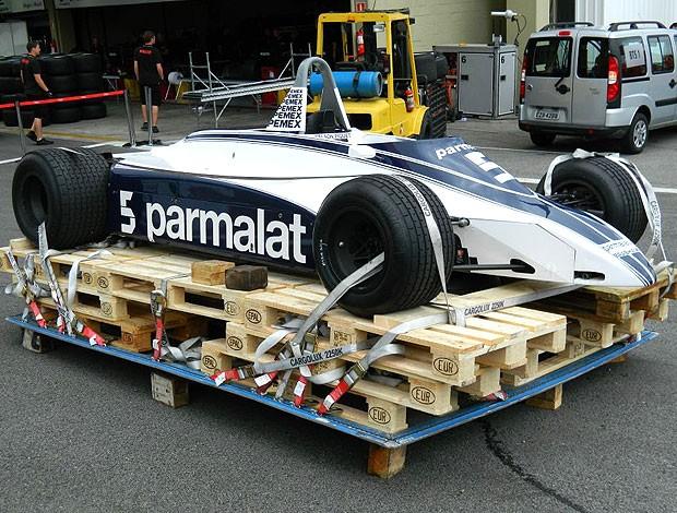carro de Nelson Piquet para exibição especial em Interlagos (Foto: Alexandre Grunwald / Globoesporte.com)