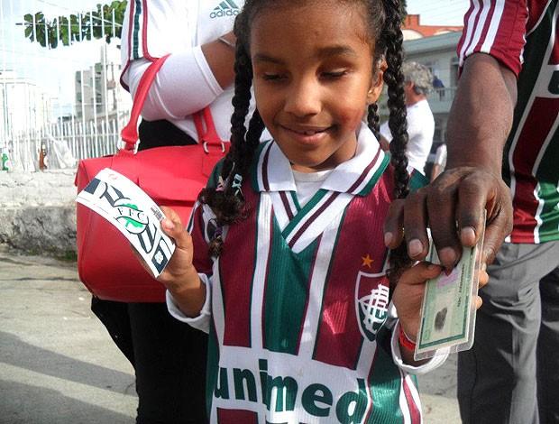 Maria Clara, torcedora do Fluminense citada por Fred (Foto: Album de Família)
