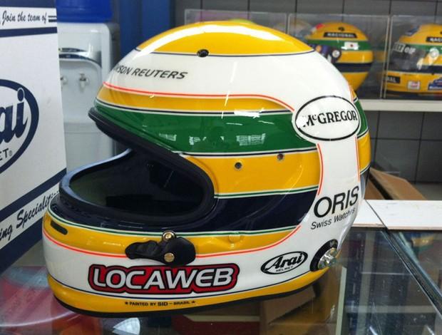 Rubens Barrichello capacete GP do Brasil de 2011 (Foto: Divulgação)