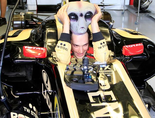 bruno senna fórmula 1 máscara et (Foto: Reuters)
