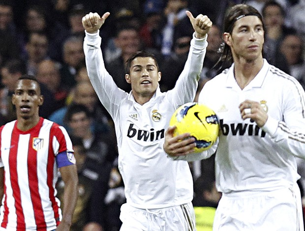 Cristiano ronaldo real madrid gol atlético de madri (Foto: Agência EFE)