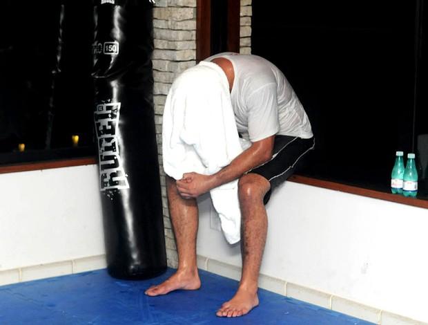 Minotauro no treino do UFC (Foto: André Durão / GLOBOESPORTE.COM)
