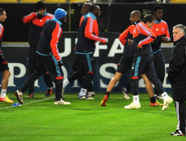 Treino do Olympique de Marselha (Foto: AFP)