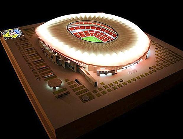 projeto do novo estádio do Atlético de Madrid (Foto: Divulgação)