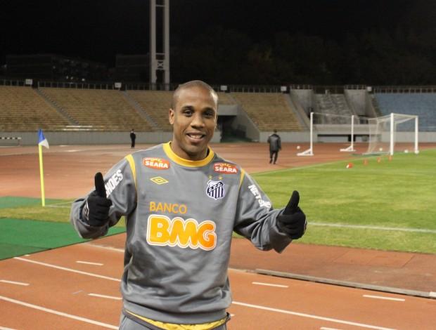 Atacante Borges, do Santos, em treino no Japão (Foto: Divulgação / Santos FC)