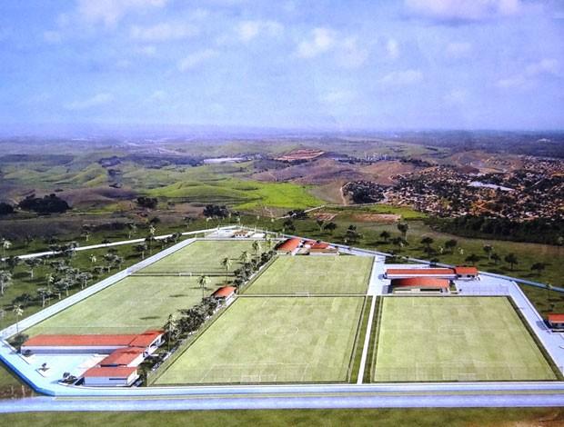 Animação aérea de como ficará o Centro de Treinamento do Sport  (Foto: Divulgação/Sport)