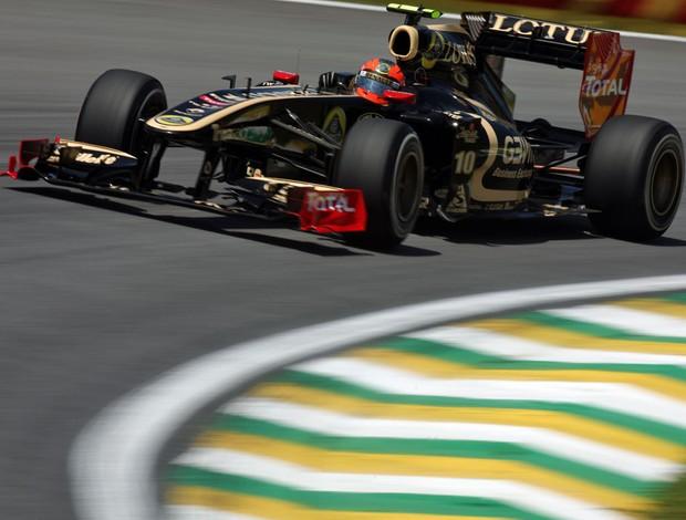 Romain Grosjean andou nos treinos livres do GP de Abu Dhabi e do Brasil em 2011 (Foto: Divulgação)