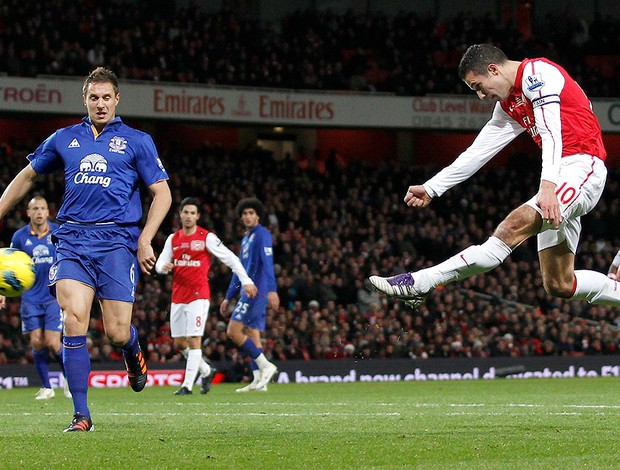 Van Persie, Arsenal x Wigan (Foto: Reuters)