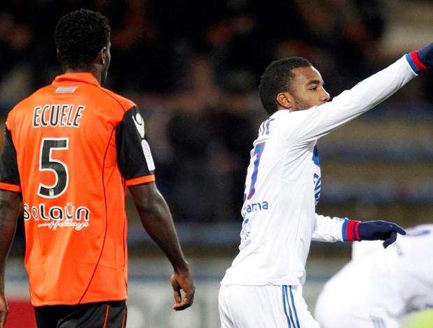 Lacazette Lyon x Lorient (Foto: Reuters)