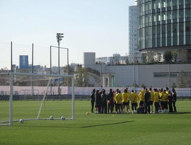 Barcelona faz primeiro treino (Foto: Thiago Dias / Globoesporte.com)