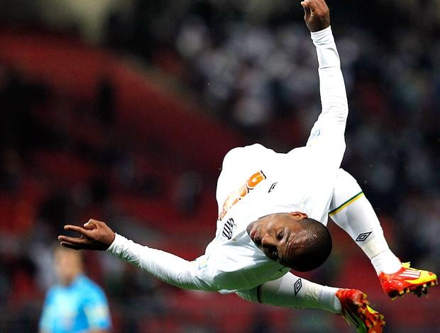 Borges comemora gol do Santos contra o Kashiwa (Foto: Reuters)