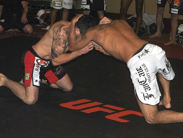 Lutadores na Seletiva UFC (Foto: João Gabriel / Globoesporte.com)