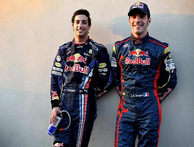 Daniel Ricciardo e Jean-Eric Vergne, novos pilotos da STR para 2012 (Foto: Divulgação)