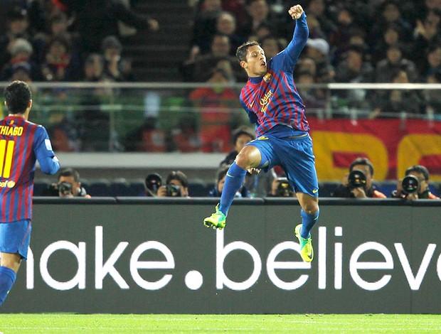 Adriano comemora gol do Barcelona contra o Al Sadd (Foto: Reuters)
