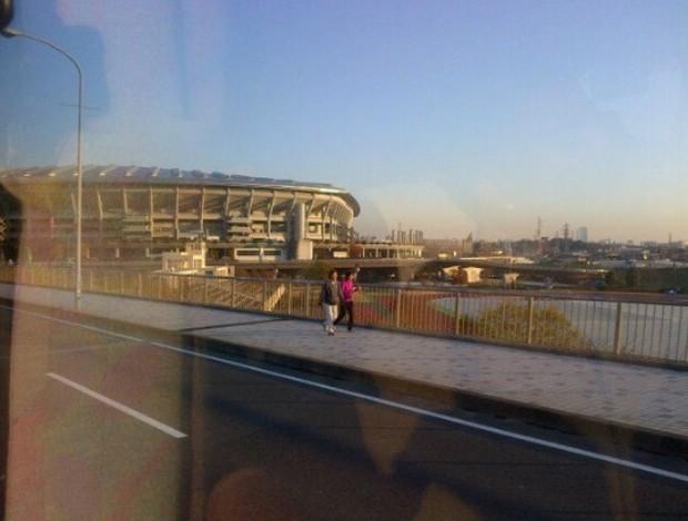 Neymar foto estádio Yokohama (Foto: Twitter / Divulgação)