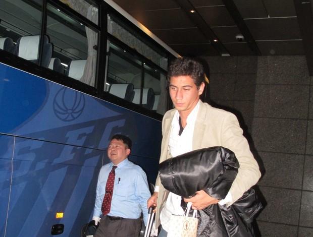 Paulo Henrique Ganso no hotel em Yokohama (Foto: Thiago Dias / Globoesporte.com)
