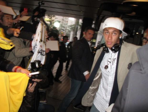 Neymar chega a Yokohama (Foto: Thiago Dias / Globoesporte.com)