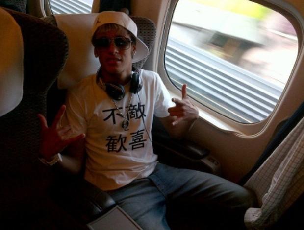 Neymar no trem-bala (Foto: Twitter / Divulgação)
