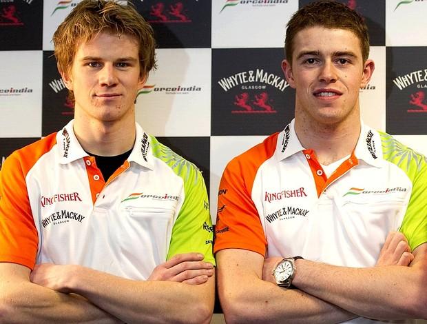 Nico Hulkenberg e Paul di Resta, nova dupla da Force India para 2012 (Foto: Divulgação)