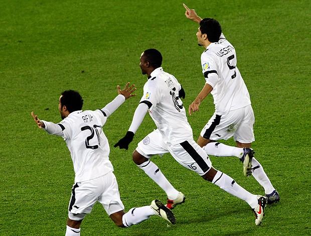 jogadores al sadd comemoram a terceira colocação no mundial (Foto: Agência AP)