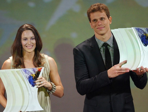 Fabiana Murer cesar cielo Prêmio Brasil Olímpico (Foto: Agência Estado)