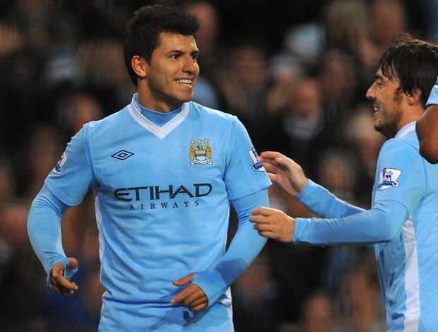 aguero Manchester City x Stoke (Foto: AFP)