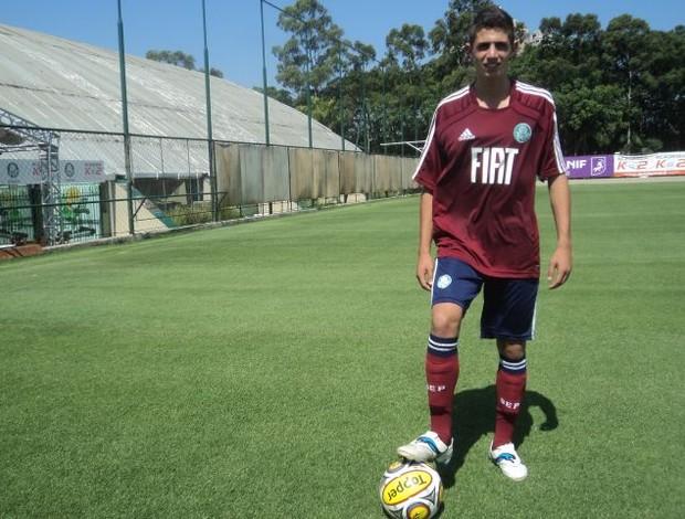 Bruno Dybal, do Palmeiras (Foto: Wagner Bordin / GLOBOESPORTE.COM)
