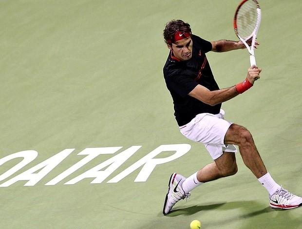Roger Federer tênis Doha quartas (Foto: João Pires / Divulgação)